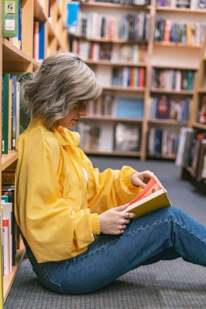 women s yellow long sleeve shirt